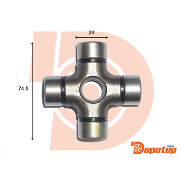 Croisillon de transmission 24x74.5 mm u-joint U728/4